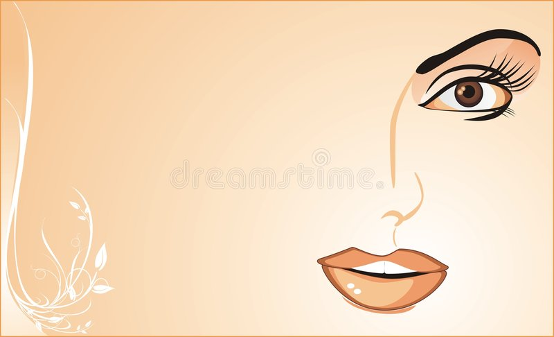 Download Fragment Of Womanish Face. Background For Card Stock Image - Image: 7848171