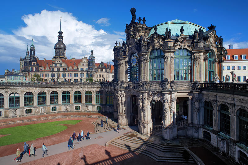 Fragment of the Zwinger Palace and Dresden Castle