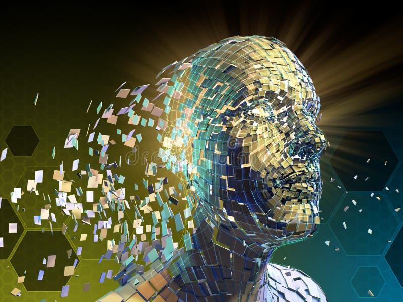 Fragmentatie van menselijke identiteit royalty-vrije illustratie