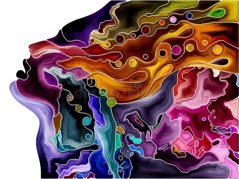 Fragmentation en évolution d'individu illustration stock