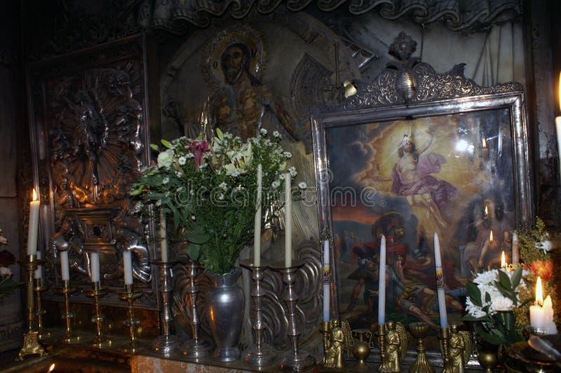 Fragmente o túmulo vazio do ` s de Jesus, onde é dito ter sido enterrado e ressuscitado foto de stock royalty free