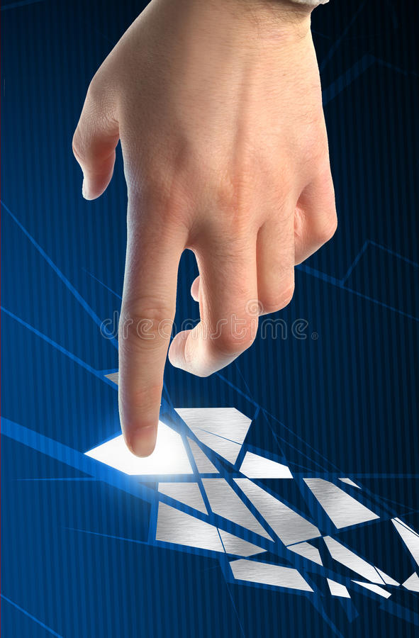 Fragmented High tech Puzzle stock photography