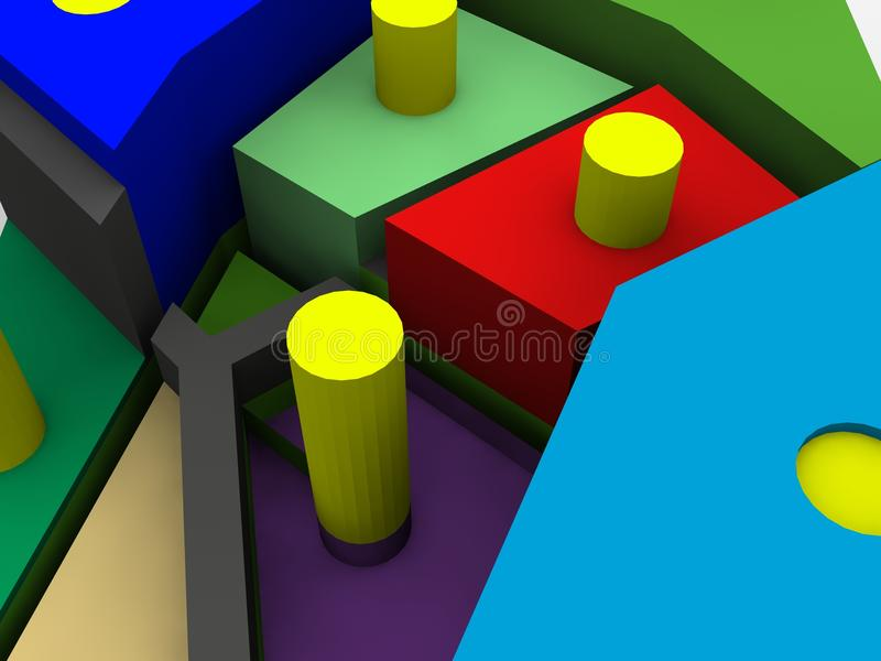 Download Fragmented Square Object Royalty Free Stock Images - Image: 12356209
