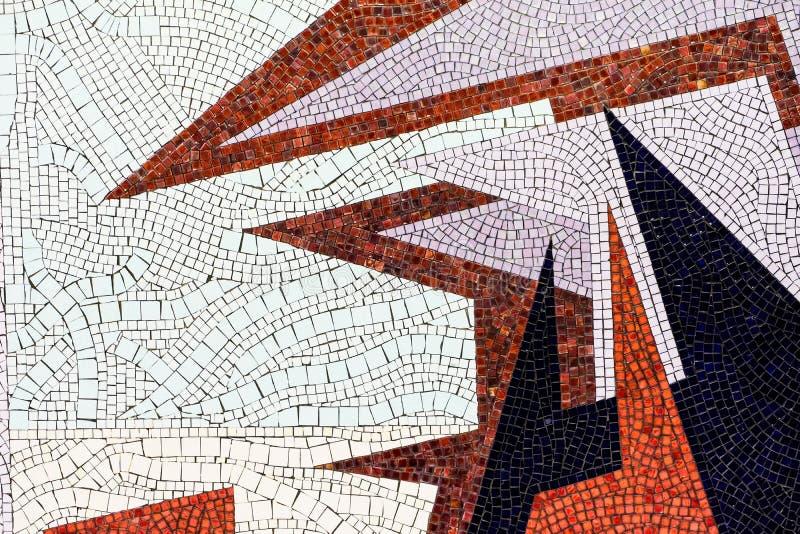 Fragmentering av mosaik av små keramiska plattor fotografering för bildbyråer