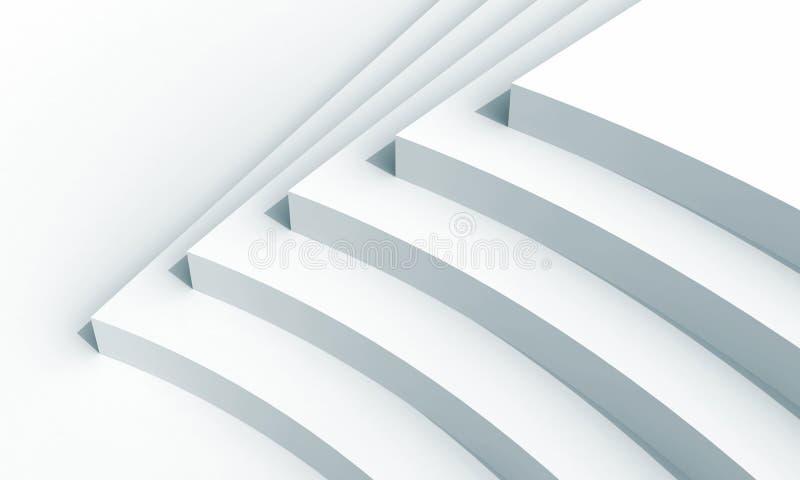Fragmento abstracto de la configuración con cinco escaleras ilustración del vector