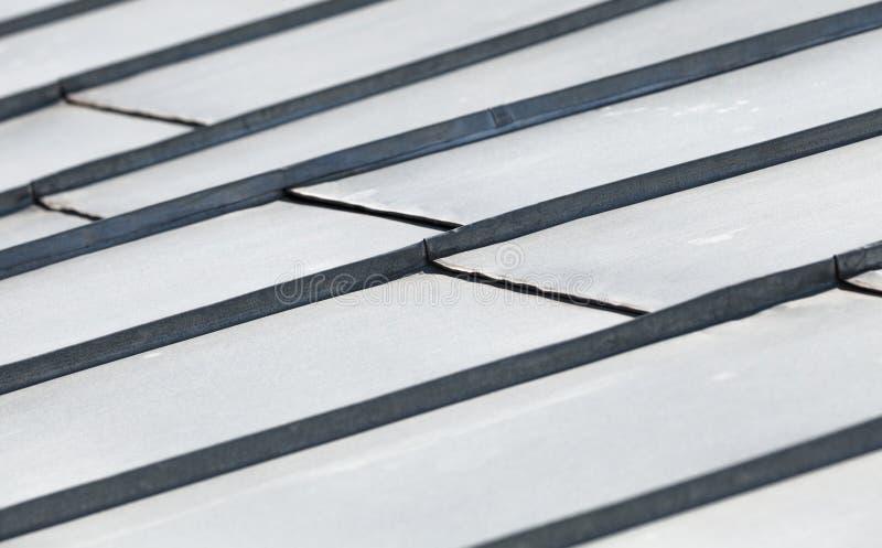 Fragmento abstracto del tejado del metal fotos de archivo libres de regalías