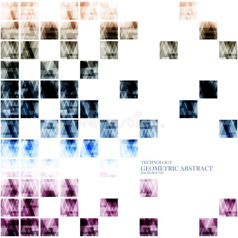 Fragmento cuadrado moderno abstracto digital tecnológico geométrico ilustración del vector