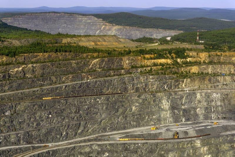 Fragmento da carreira da mineração imagem de stock