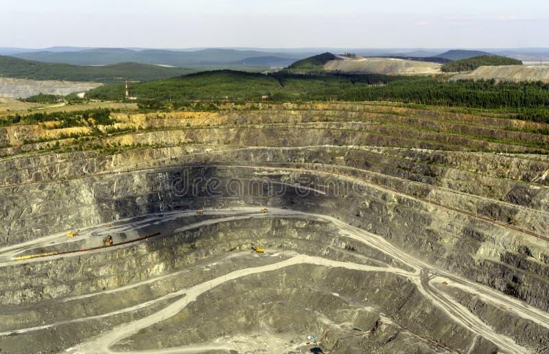 Fragmento da carreira da mineração foto de stock