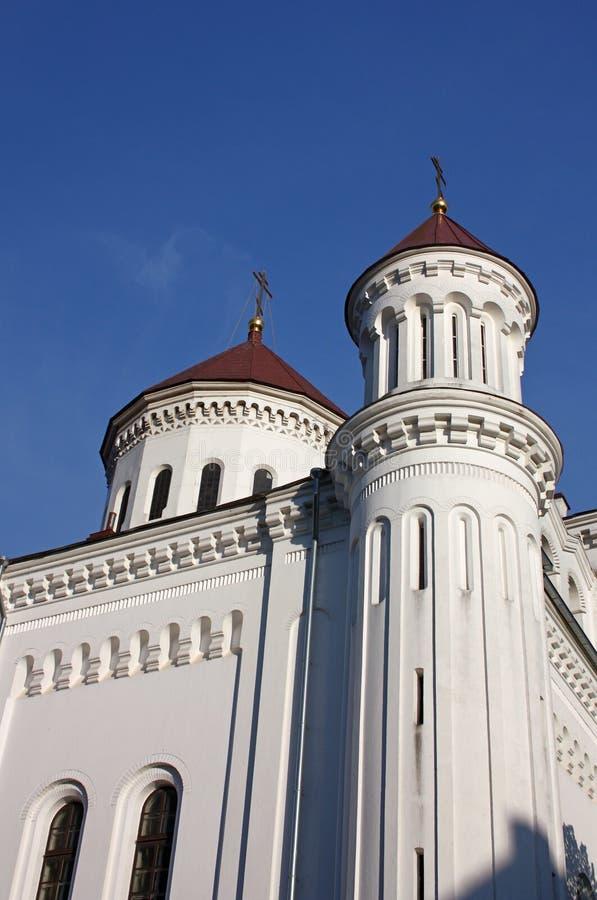 Fragmento da catedral da suposição da mãe abençoada do deus em Vilnius fotos de stock