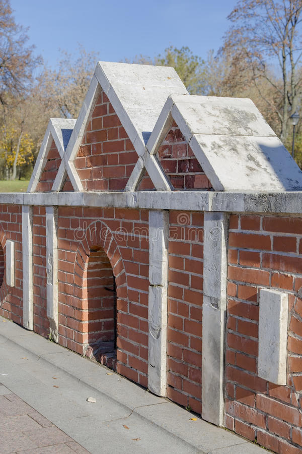 Fragmento da decisão arquitetónica da ponte grande no czar imagem de stock royalty free