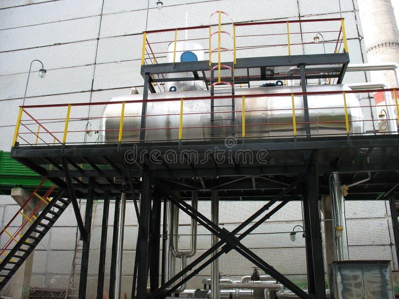 Fragmento da infra-estrutura - tanque de água industrial imagens de stock royalty free