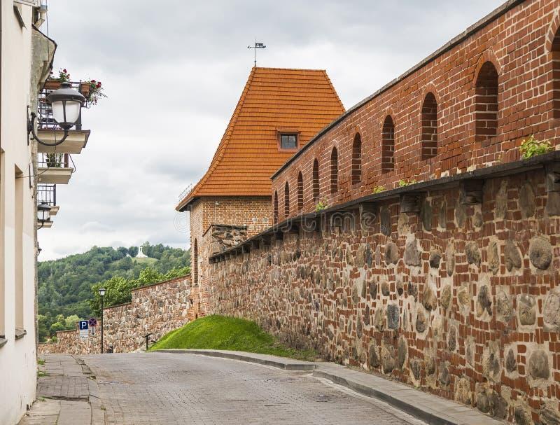 Fragmento da parede da cidade fotografia de stock