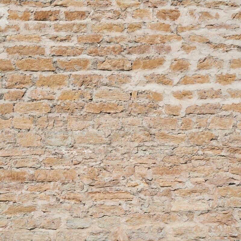 Fragmento da parede do castelo velho do tijolo fotografia de stock