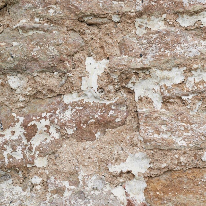 Fragmento da parede do castelo velho do tijolo imagem de stock