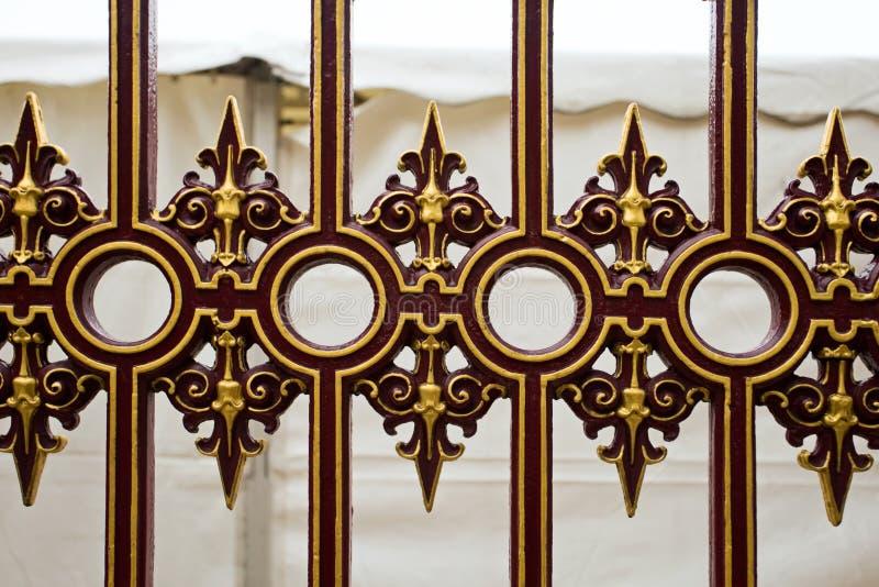 Fragmento da porta do ferro. imagem de stock royalty free