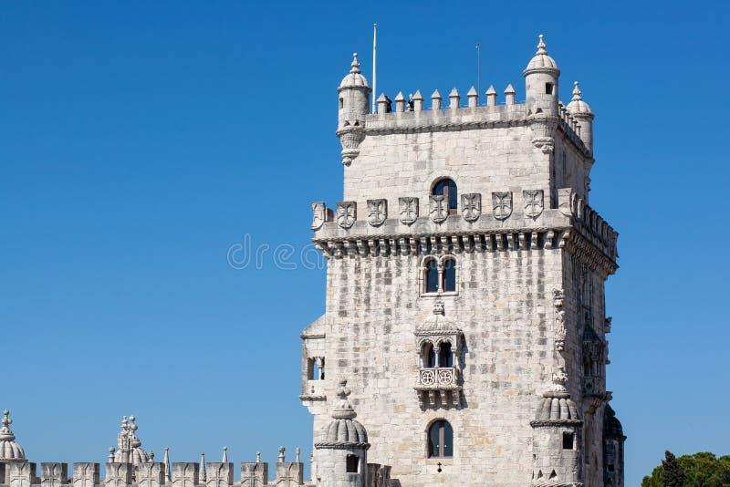 Fragmento da torre de Belém em Lisboa Lisboa Portugal fotos de stock