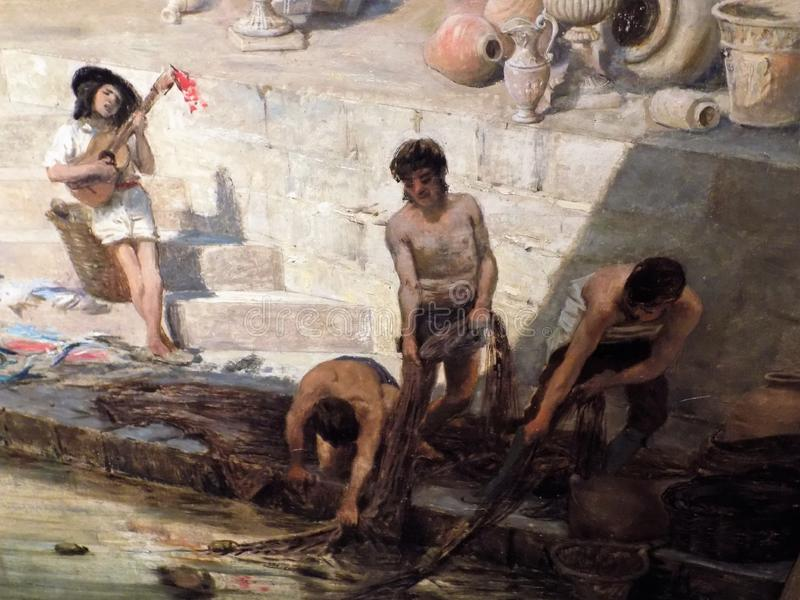 Fragmento de la alegoría sobre Málaga imagen de archivo libre de regalías
