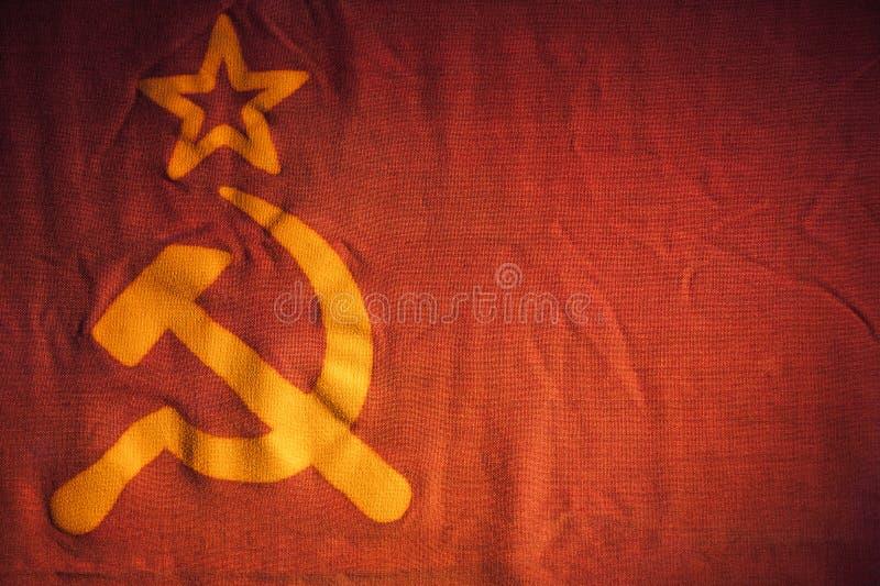 Fragmento de la bandera de Unión Soviética fotos de archivo