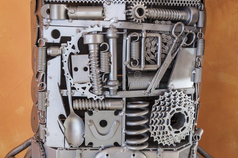 Fragmento de la escultura del metal fotografía de archivo libre de regalías
