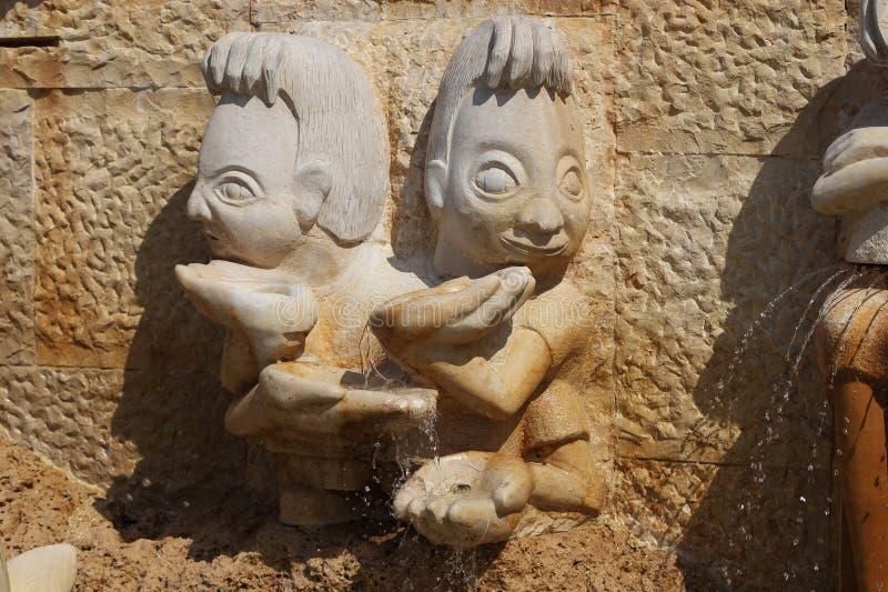 Fragmento de las muestras del zodiaco - géminis, Jaffa, Te de la fuente fotografía de archivo