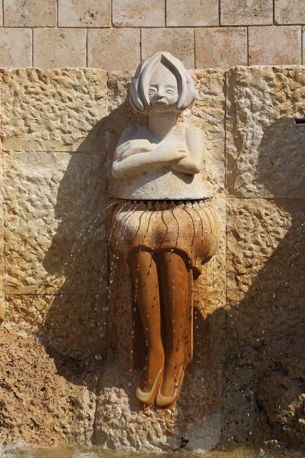 Fragmento de las muestras de la fuente del zodiaco - Virgen, Jaffa, Te imágenes de archivo libres de regalías