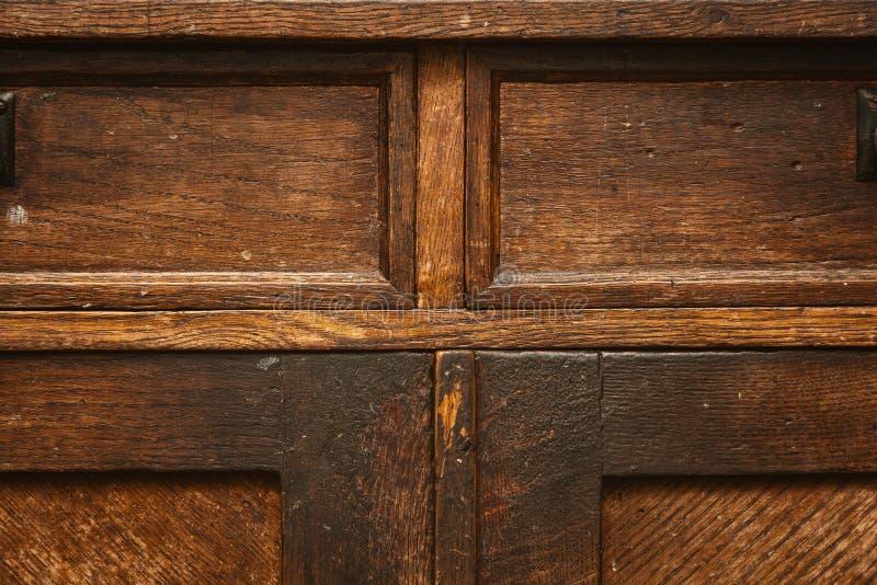 Fragmento de los muebles antiguos Superficie de madera del vintage fondo del grunge, vieja textura áspera foto de archivo libre de regalías