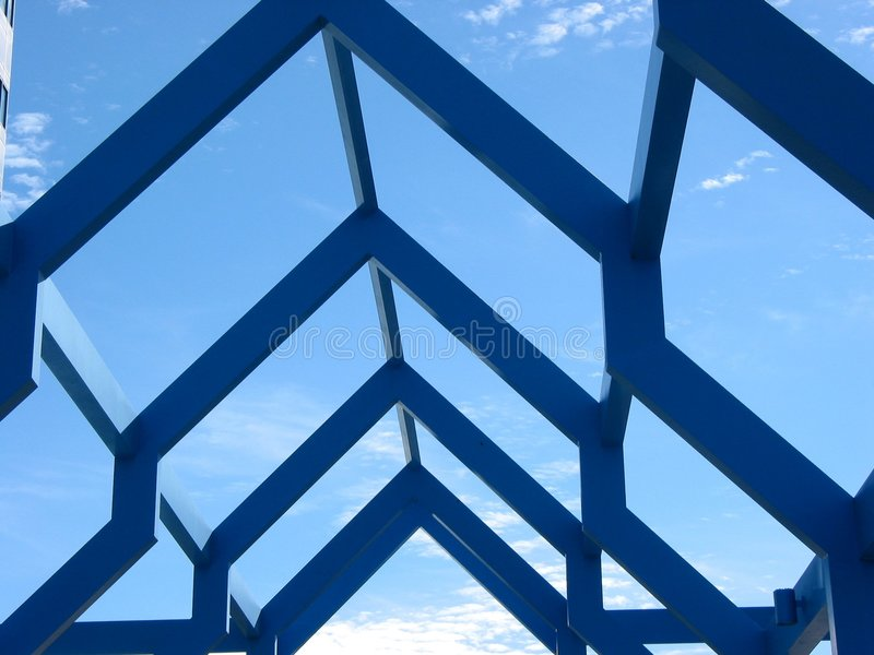 Fragmento de uma estrutura moderna imagens de stock