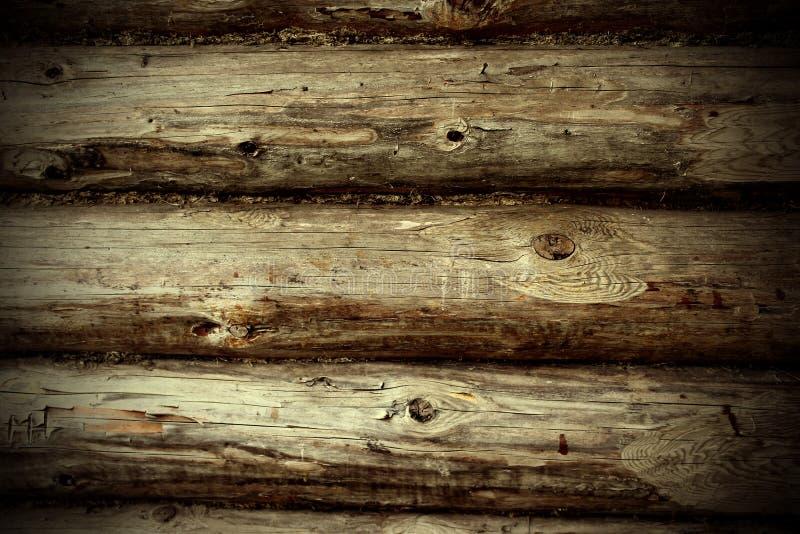Fragmento de uma parede de madeira da casa imagem de stock