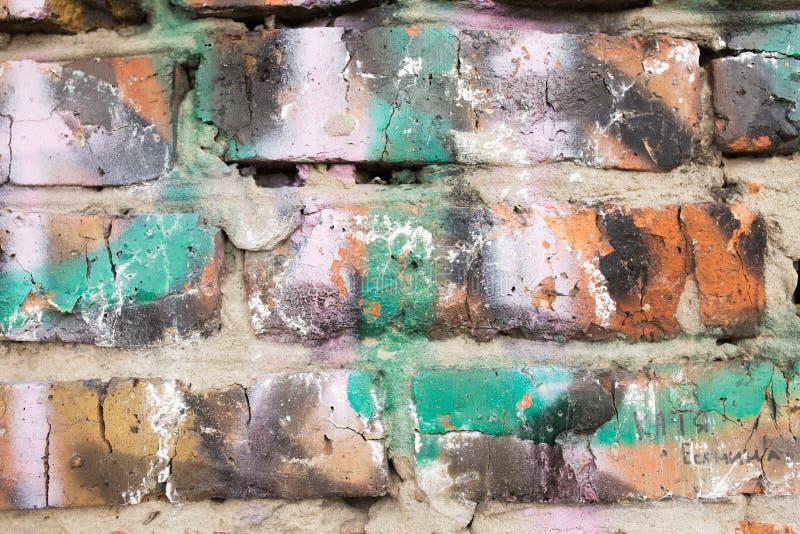 Fragmento de una pared de ladrillo imagen de archivo