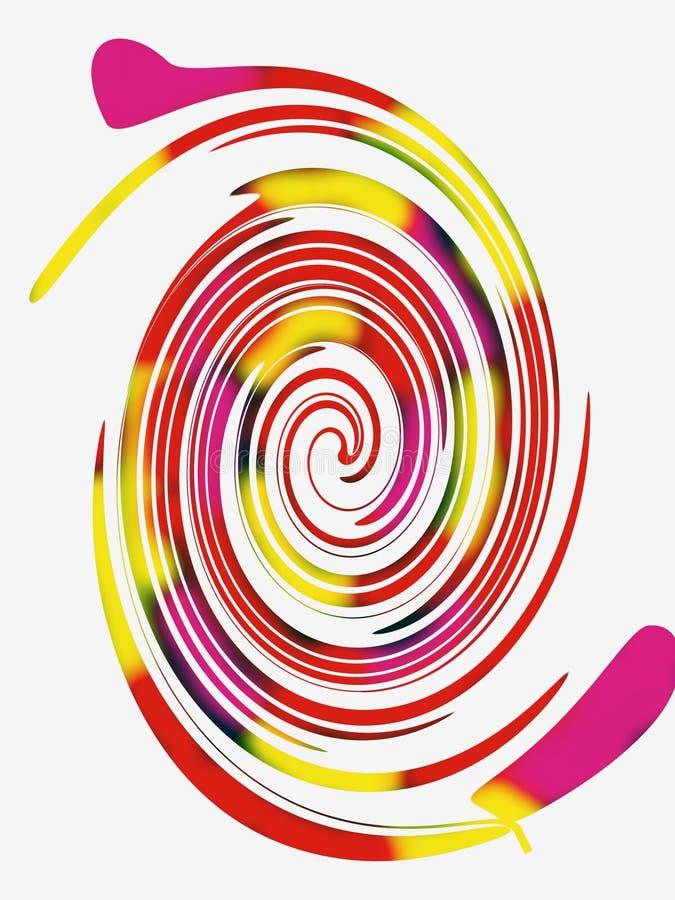 Fragmento del color en un fondo blanco libre illustration