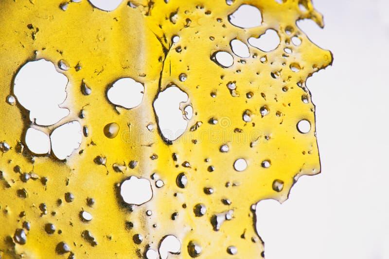 Fragmento del concentrado del aceite del cáñamo aka aislado imagenes de archivo