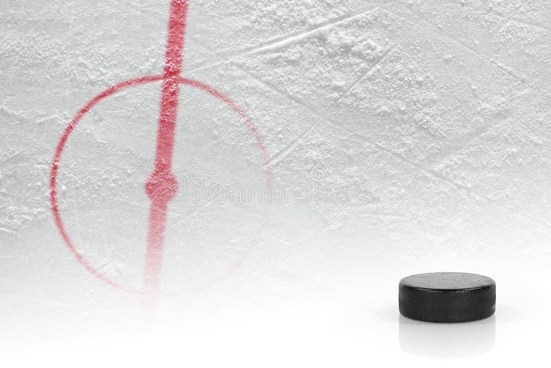 Fragmento del hockey de la pista de hockey sobre hielo fotografía de archivo