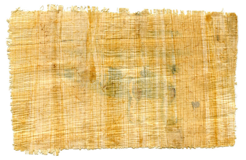 Fragmento del papiro egipcio en blanco fotografía de archivo libre de regalías