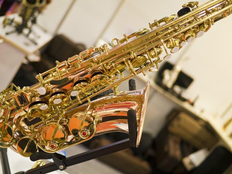 Fragmento Del Saxofón Imagen de archivo libre de regalías