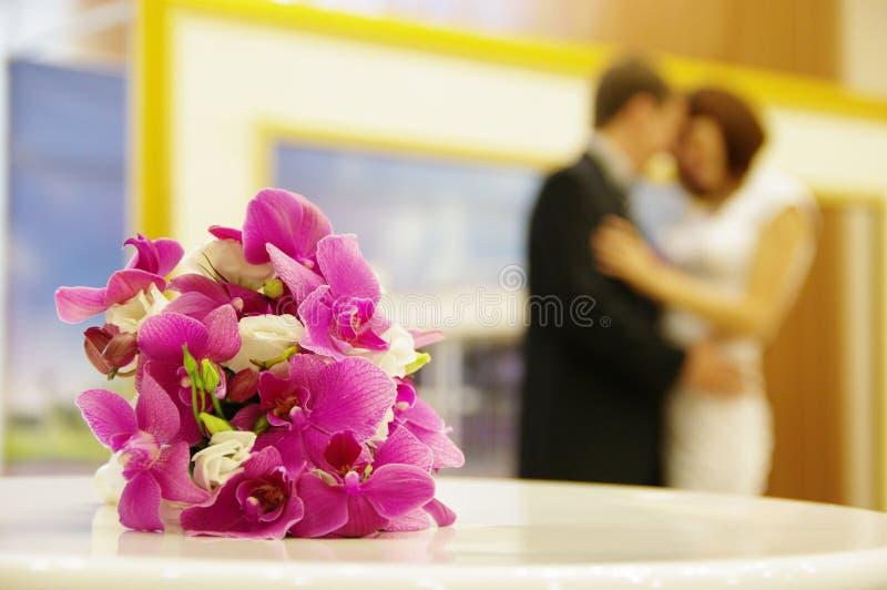 Fragmento do casamento foto de stock