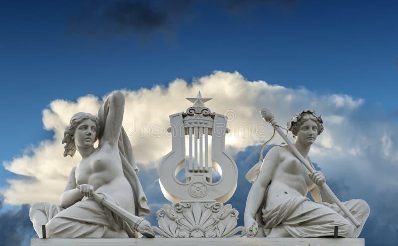 Fragmento do Latvian nacional Opera em Riga, Letónia imagens de stock royalty free