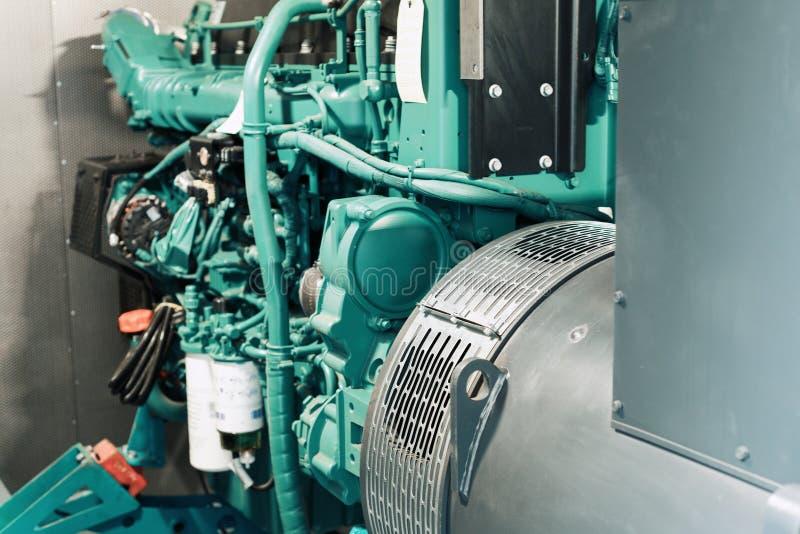 Fragmento do módulo diesel do gerador Sistema dos poderes de emergência foto de stock royalty free