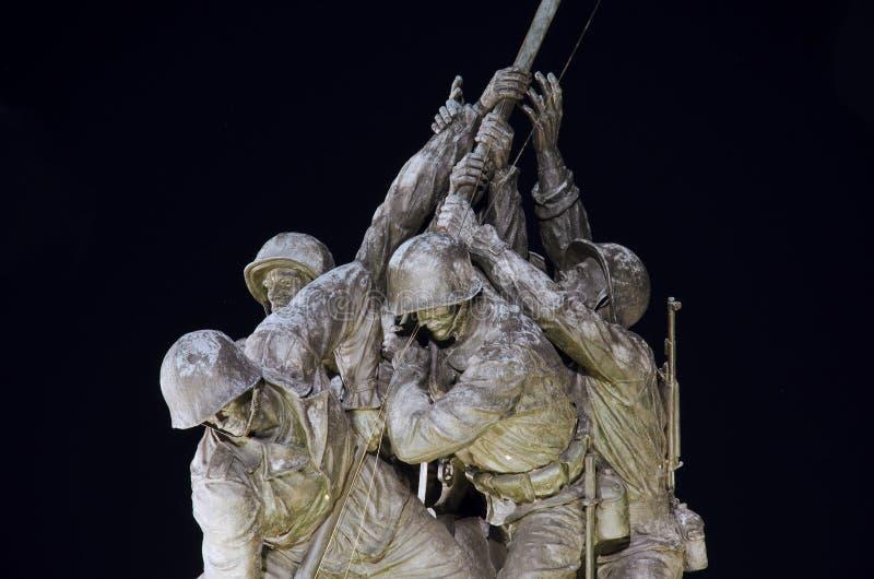 Fragmento do monumento de Iwo Jima fotografia de stock