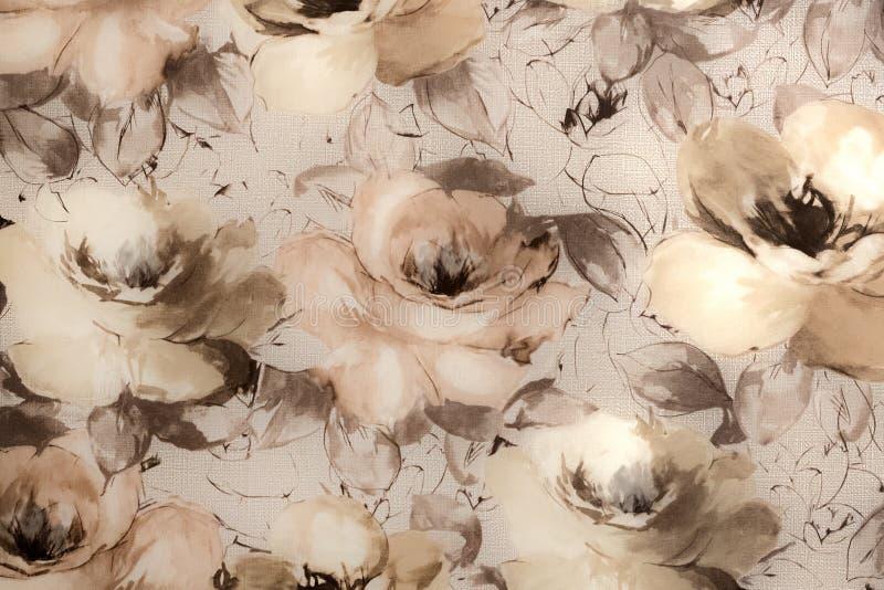 Fragmento do papel de parede colorido com o ornamento floral útil como o fundo imagens de stock royalty free