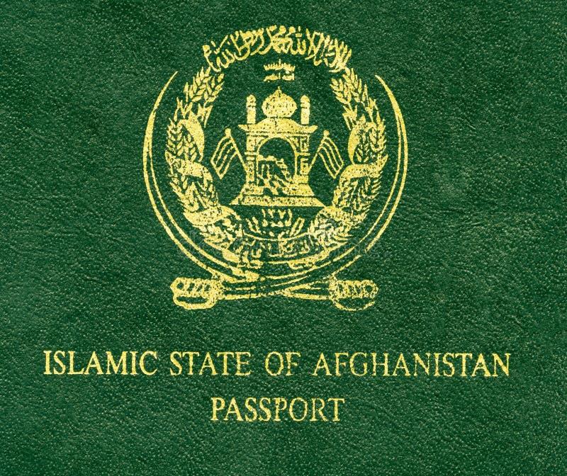 Fragmento do passaporte de Islamic State of Afghanistan fotos de stock royalty free