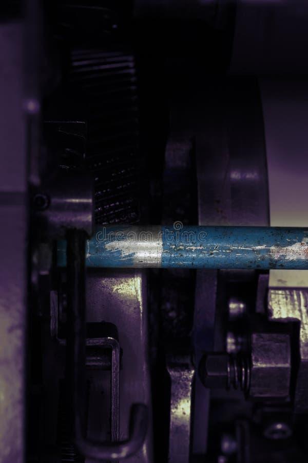 Fragmento industrial detalhado velho da máquina imagens de stock