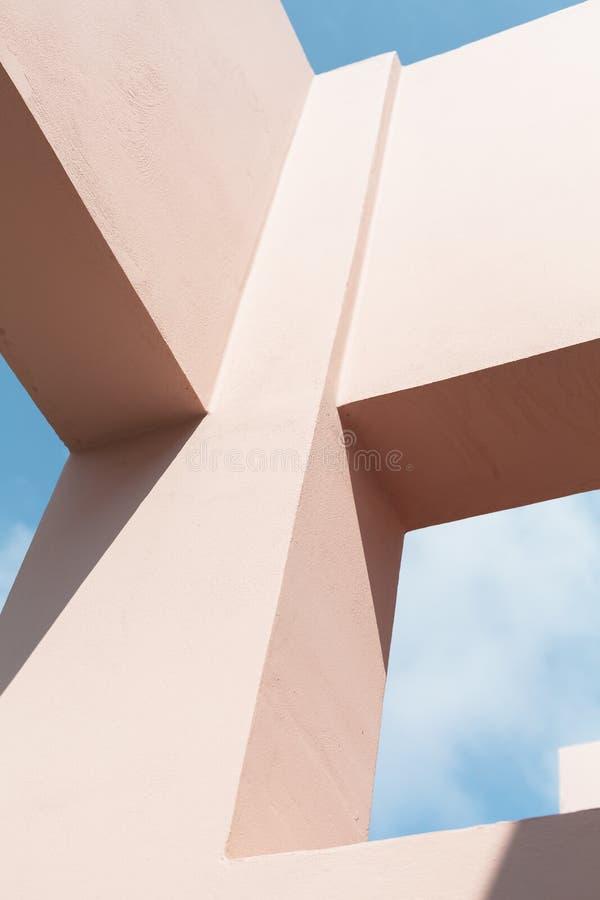 Fragmento moderno abstracto de la arquitectura imagenes de archivo