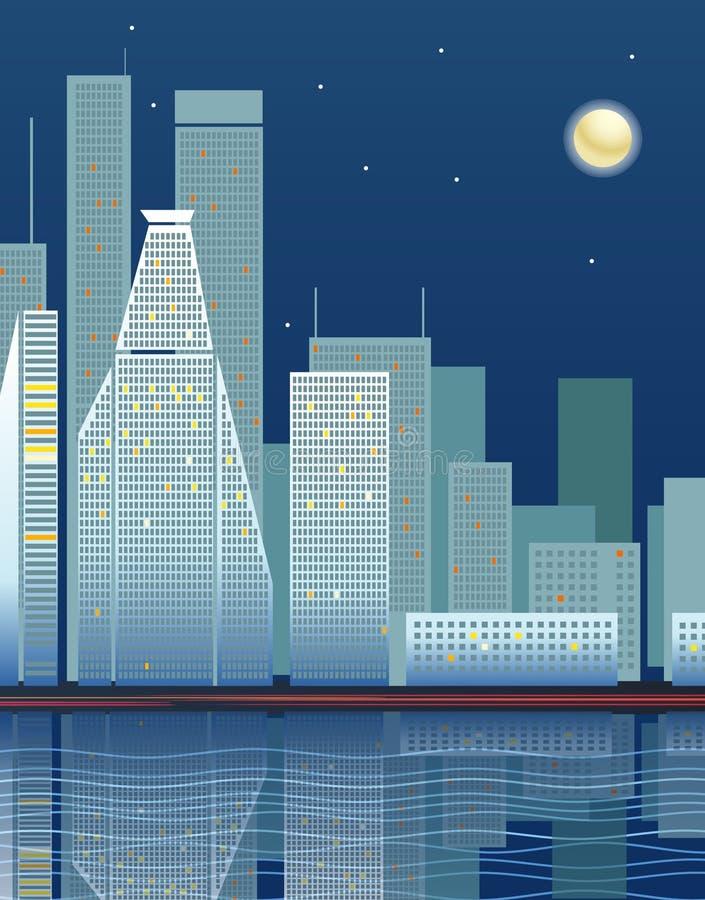 Fragmento moderno de la ciudad ilustración del vector