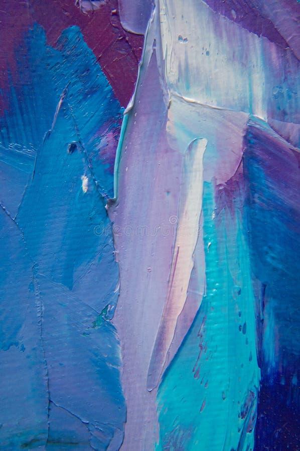 fragmento Pintura multicolora de la textura Fondo del arte abstracto Petróleo en lona Pinceladas ásperas de la pintura Primer de  fotografía de archivo libre de regalías