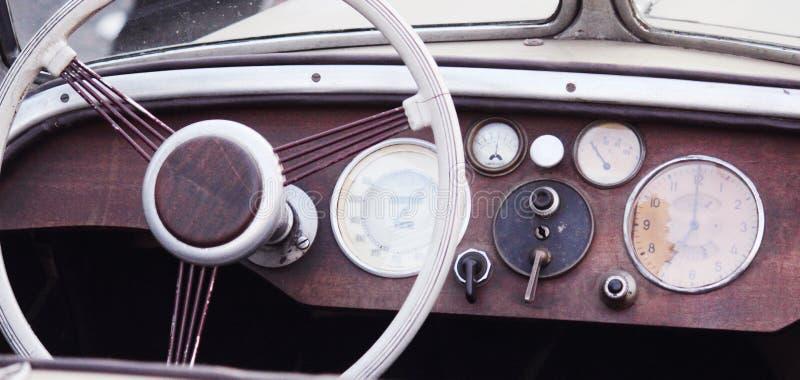 Fragmento retro do carro foto de stock