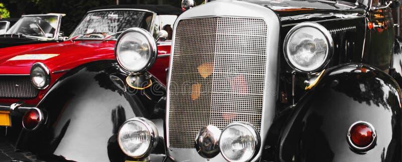 Fragmento retro do carro imagens de stock royalty free