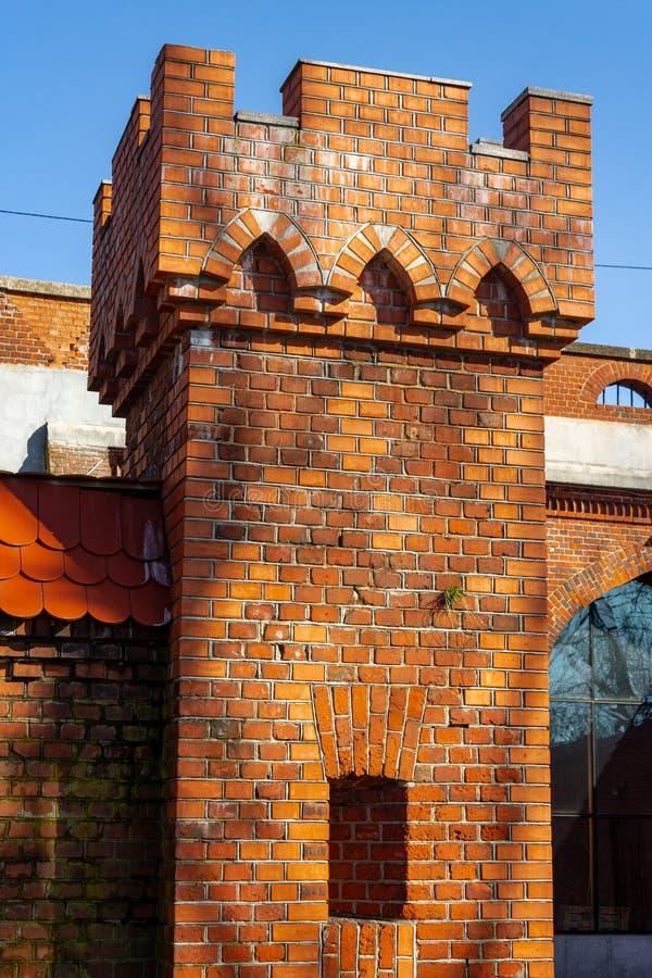 Fragmento velho da torre construído no século XIX imagem de stock royalty free