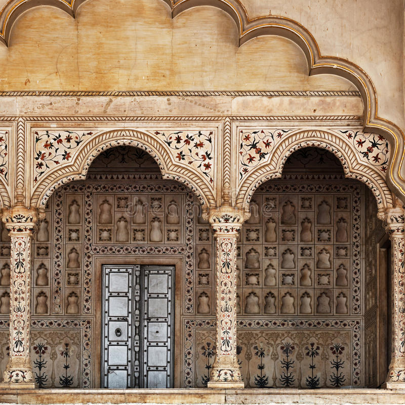 Fragmentos da arquitetura indiana tradicional foto de stock royalty free