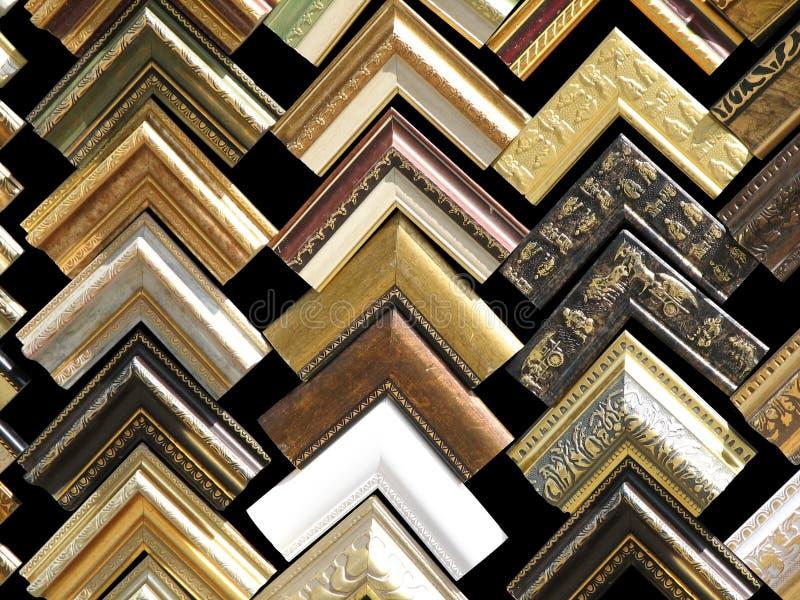 Fragmentos de frames de madeira foto de stock royalty free